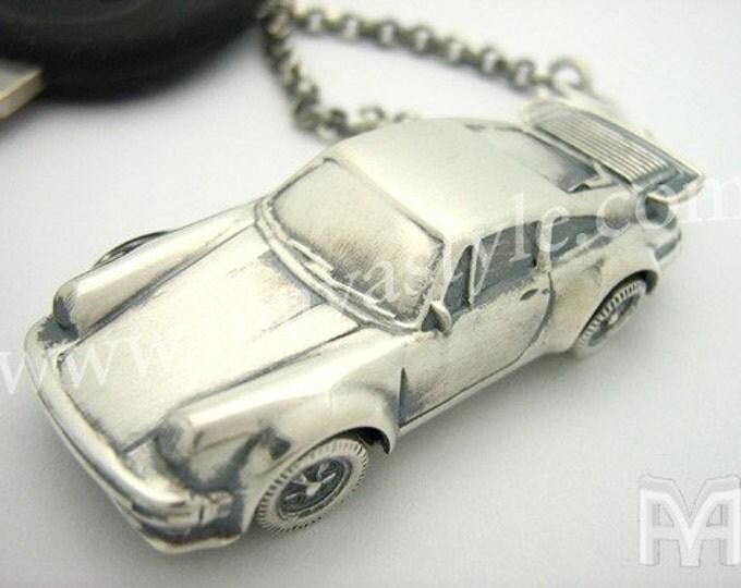 Sterling Silver Porsche Keychain