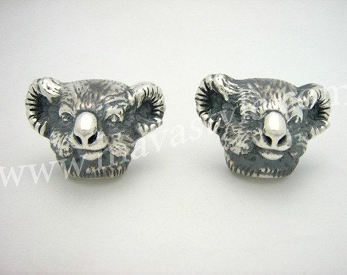 Sterling Silver Australian Koala Cufflinks