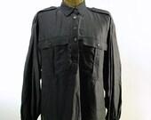 Vintage Escada Striped Silk Blouse (s-m)