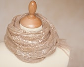 Cobweb Lace Scarf Felt Shawl Silk Baby Alpaca Desert Sand natural beige camel tan gold eco friendly elitett tbteam