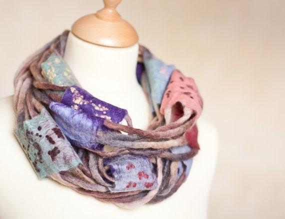Infinity Scarf Versatile Cowl Loop Circle Felt Art Scarf Wool Scarves Colorful Mutlicolor fashion teamcamelot elitett tbteam