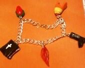 Firefly Dangly Charm Bracelet
