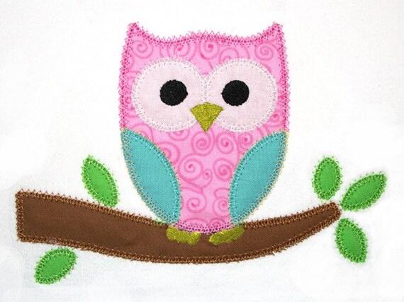 Owl Applique Design 140
