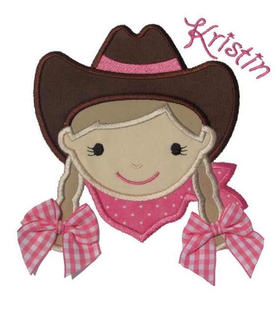 Cowgirl Applique Design