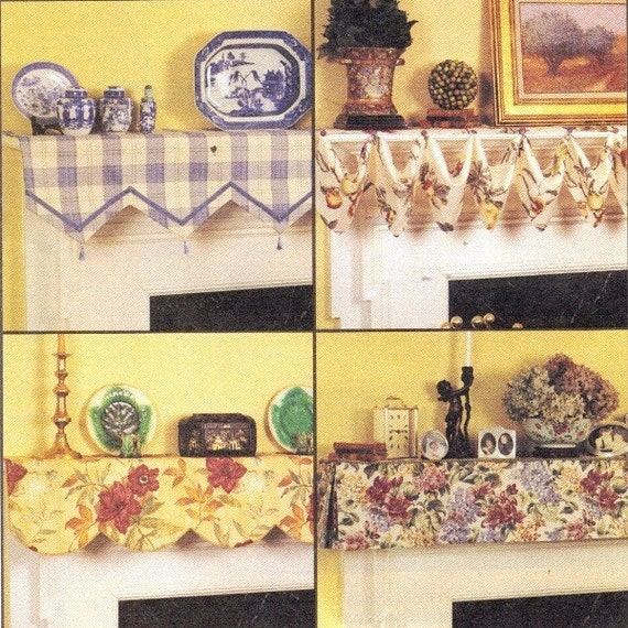 Hearth Covers: Items Similar To Fireplace Mantel Covers Tutorial Pattern