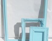 Vintage Frames Set of 3 Turquoise Aqua