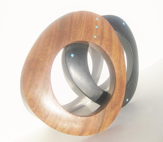 Wood Bracelet Tiny Dots