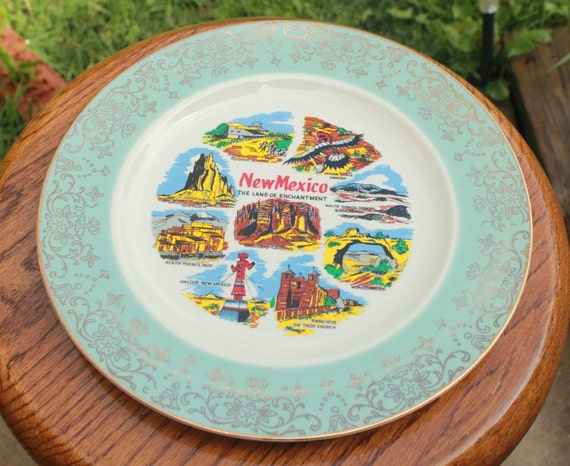 New Mexico Vintage Collector's Plate