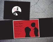30 Nightmare Before Christmas Inspired Trifold Wedding Invitation