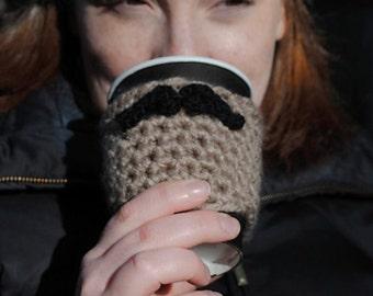 Mustache Coffee Sleeve