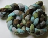 Blue faced leicester spinning top Calm, roving, BFL 4oz