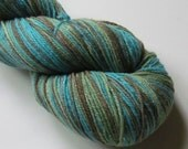 SPARKLE SOCK STRIPES fingering weight sock yarn, Calm