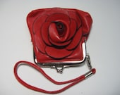 Rose Small wristlet in Faux leather