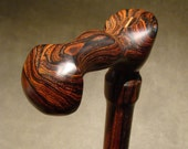 Extra Big Tall Custom Walking Cane (Item 106) - Cocobolo, Brazilian Ebony & Rosewood