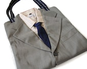CHRISTMAS SALE - PAUL - 100% Recycled Upcycled Suit Tote Bag