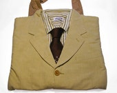 TANIA - 100% Recycled Upcycled Suit Tote Bag