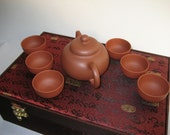 Ancient chinese gold sycee teapot set
