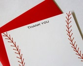 Personalized/Thank You Baseball thank you notes - Set of 10