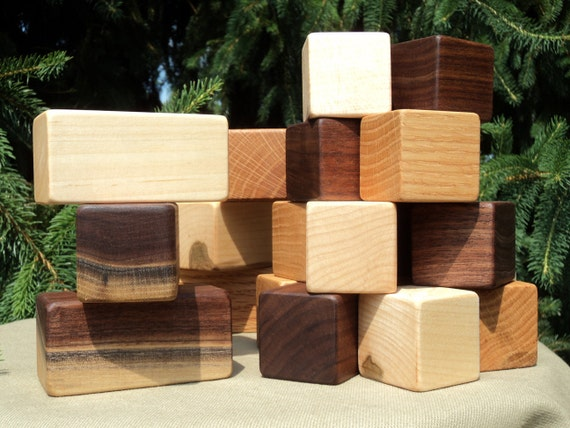 Building Blocks: Handcrafted Wooden Toys for Children or Adults