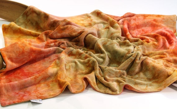 Baby Blanket, Bamboo Velour, in Fall Foliage by Tickety Bu