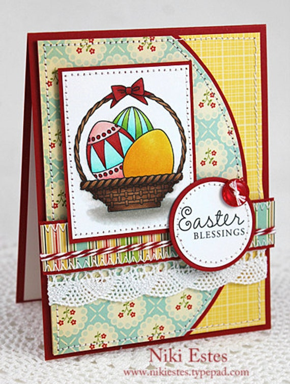 Items similar to Easter Blessings Handmade Card on Etsy