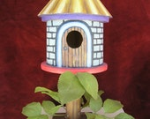 Funky Birdhouse, fun decor, handcrafted by Jack Schaar, JES Fine Art, Enter COUPON CODE: JESThanks15 at checkout for 15 percent off listed price
