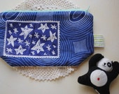 Starry night zipper pouch ooak