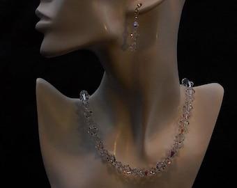 SpellBound -  Swarovski  Crystal Necklace in Sterling Silver.