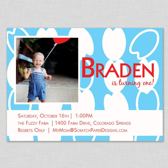 Custom Birthday Invitation --  All Blotchy