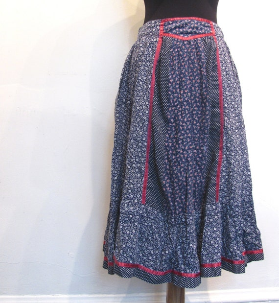 Gunne Sax Peasant Skirt / Blueberry Merlot