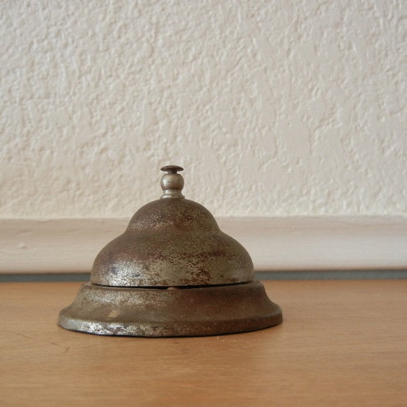 Vintage Service Desk Bell, Beautifully Aged