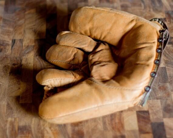 Midco genuine leather F21 baseball glove