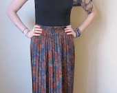 reserved for michellefarro 90s pleated floral maxi skirt