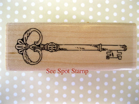 Antique Key Stamp Vintage Key Stamp Skeleton Key Stamp
