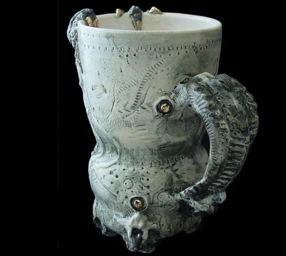 Hybrid Dystopia Mug with 22k Gold