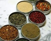 Small custom magnetic spice kit. 6 tins - you pick the spices. Perfect for novice cooks and Top Chefs alike