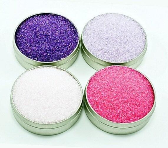 Cocktail sugar rimmer - purple, pink rim sugar for margaritas or martini glasses