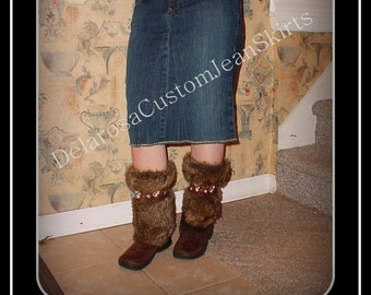 Custom to your size short Jean Skirt below the knee size 0 2 4 6 8