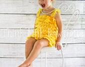 Petti Romper / Lace Ruffle Romper with straps