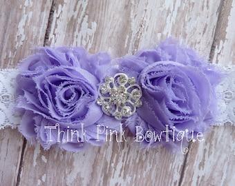 Headband, flower headband, baby headband, shabby chic roses headband