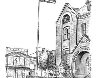 Flag at Oxford City Hall 8 x 10 Print