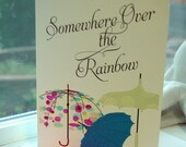 Some Where There's A Rainbow Card Sage Envelope