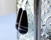 Elegante en blanco y negro - black & white earrings