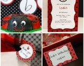 Custom Ladybug Birthday - PRINTABLE DIY Party Collection- by anna and blue paperie