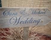 Wedding Sign Rustic Wooden Indoor/Outdoor Wedding Directional Sign