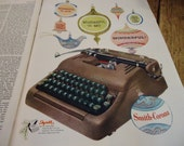 Antique Advertisements1950's - Saturday Evening Post - Coca Cola, Typewriter, Toys, Ford, Hudson Hornet, Medicine and more