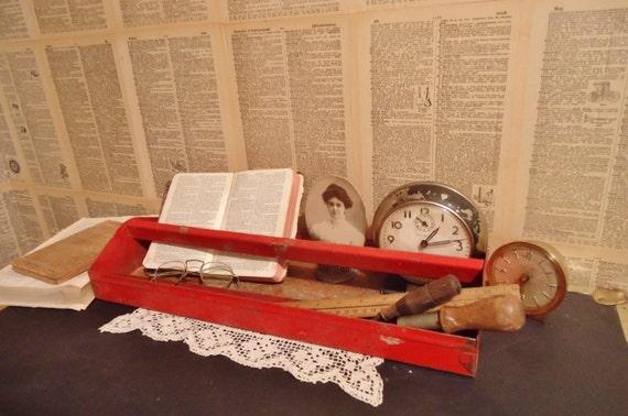 RESERVED for Pamela - Set of 2 Vintage Metal Tool Totes