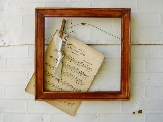 Antique Wooden Frame - Wall Art or Wedding Decor - 16-1/4 x 15-3/4