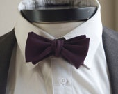The Weston- Our wool bowtie in eggplant
