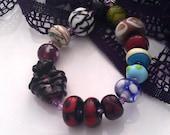 Destash - Mixed Bargain Lot of Seconds/Orphan beads (15) SRA